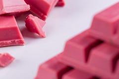 Finger Ruby Chocolate Bar arkivfoto