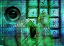 Finger safe. Finger unlock digital safe- conceptual background Stock Image