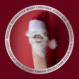 Finger santa clauss Royalty Free Stock Photography