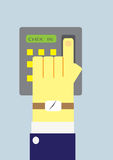 Finger scanner. Chain scanning to work out Royalty Free Stock Photography