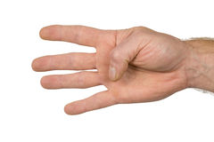 Finger signs four Stock Photos