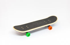 Finger skate. Finger skate on white background royalty free stock photos