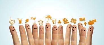 Finger smileys Stock Photos