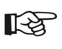 Finger som pekar symbol Arkivfoton