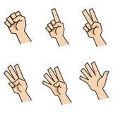 Finger som räknar händer Front View Royaltyfri Bild