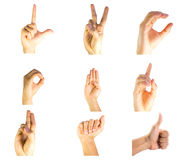 Finger Spelling Stock Images