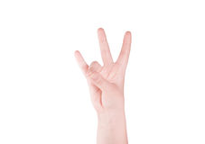 Finger Spelling the Alphabet Stock Image