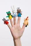 Finger-Spielwaren stockbilder