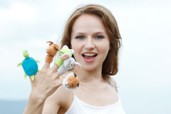 Finger-Spielwaren Lizenzfreies Stockfoto
