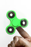 Finger spinner stock photo