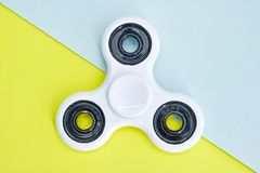 Finger Spinner. A studio photo of a finger spinner stock images