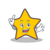 Finger star character cartoon style. Vector illustration Stock Images