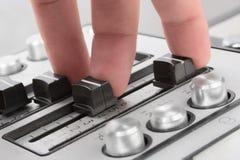 Finger stichhaltiges control-2 Stockbilder