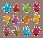 Finger sticker. S,cartoon vector illustration Stock Photos