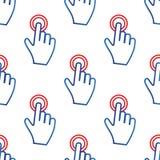 Finger tap pattern Stock Photo