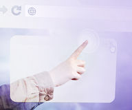 Finger Technology Web Touch Stock Photos