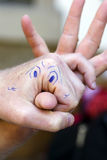 Finger Theatre Stock Photo