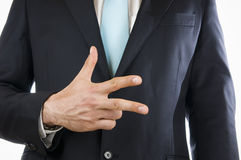 Finger three Royalty Free Stock Image