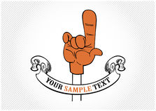 Finger tips. In  cartoon style Stock Photo