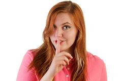 Finger to hush Stock Image