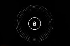 Finger Touch Key Button Lock Screen Tablet Interface DIgital Unlock Royalty Free Stock Image
