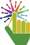 finger touch logo Stock Photo