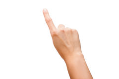 Finger Touch Virtual Screen Isolated Royalty Free Stock Photography