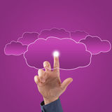 Finger touches the clouds Royalty Free Stock Photography