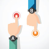 Finger touching banner . concept vector illustrati Stock Photography