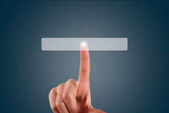Finger Touching Blank Button Royalty Free Stock Image
