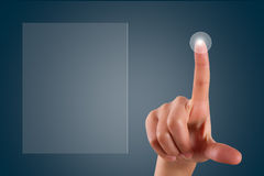 Finger Touching Digital Screen Stock Image