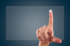 Finger Touching Digital Screen Royalty Free Stock Image