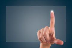 Finger Touching Digital Screen Royalty Free Stock Image