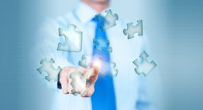 Finger touching icon Royalty Free Stock Image