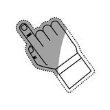 Finger touching something. Icon  illustration graphic design Royalty Free Stock Photography