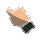 Finger touching something. Icon  illustration graphic design Stock Image