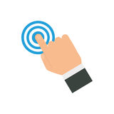 Finger touching something. Icon  illustration graphic design Royalty Free Stock Photos