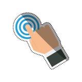 Finger touching something. Icon  illustration graphic design Royalty Free Stock Image