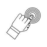 Finger touching something. Icon  illustration graphic design Royalty Free Stock Photo