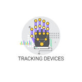 Finger Tracking Device Access Technology Icon. Vector Illustration Royalty Free Stock Images