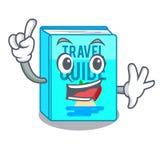 Finger travel guide book above table cartoon. Vector illustrtion vector illustration