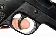 Finger on trigger Stock Images