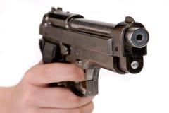 Finger on trigger Stock Photo