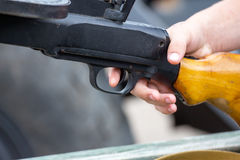 Finger on the trigger royalty free stock images