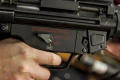 Finger on a trigger Stock Image