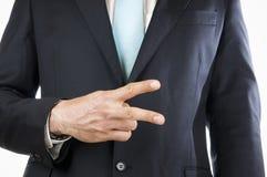 Finger two Stock Image