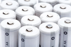 Finger-type batteries. Size AA Royalty Free Stock Photo