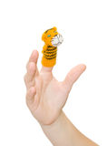 Finger-type theatre with puppet Royalty Free Stock Photo