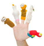 Finger-type theatre with puppets Royalty Free Stock Image