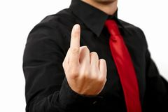 Finger up! Stock Image